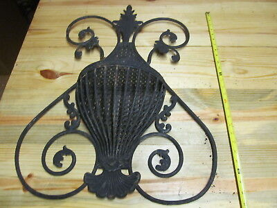 Wall Pocket – Vintage Cast Iron Planter Plant Hanger Basket