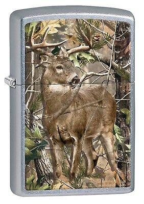 Zippo Lighter: Realtree, Buck in Woods - Street Chrome Finish 29310