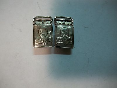 Old Pair Humpty Dumpty Clips for Childers Suspenders ?