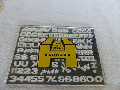 Vintage Hernard 3-D Title Letters set Model T-117 with case, Crafts or Arts work
