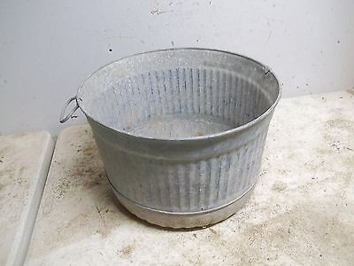 Lot A Old Metal Bushel Measuring Tub for garden planter flower pot