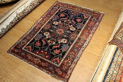 """Antique-Persian-Rug 4'6""""x7' Persian Bakhtiari 19th Century hand -knotted rug"""