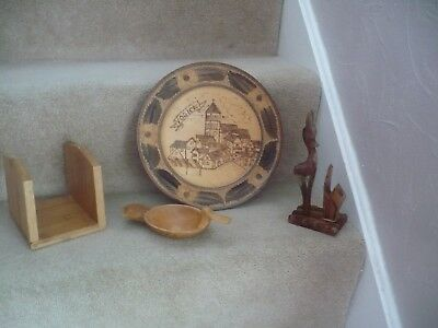 A Job Lot Of Vintage Wooden Items A Great Mixed Lot