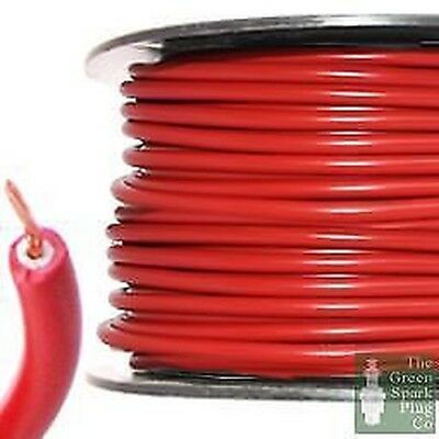 7mm HT High Tension Ignition Lead Cable - Copper Core PVC Red