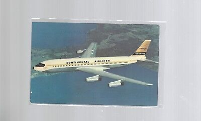 Continental Airlines issued Boeing Golden Jet 707   postcard