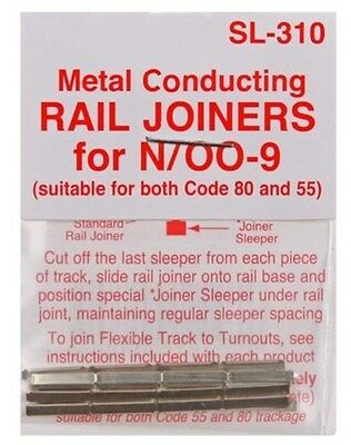 PECO SL-310 Fishplates x 24 (Track Joiners) 'N' Gauge Code 80 &55 track New Pack