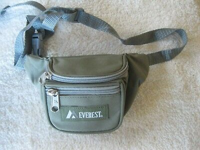 Everest Signature Unisex Extra Small Size Waist/Fanny Pack-Olive Green NEW