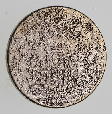 First US Nickel - 1869 - Shield Nickel - US Type Coin - Over 100 Years Old! *150