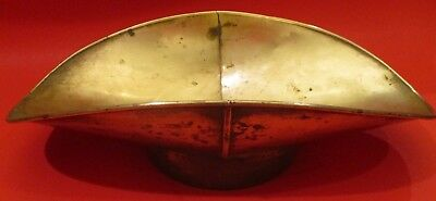 Antique Small Brass Candy Or General Store Brass Scale Pan