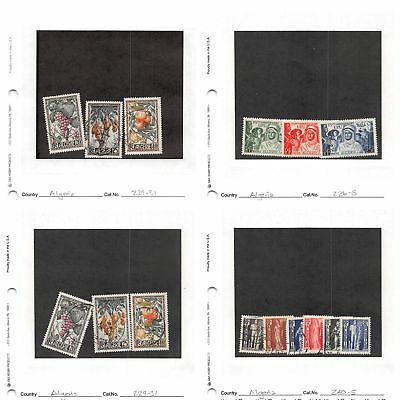 Lot of 47 Algeria Mixed Condition Stamps #132777 X