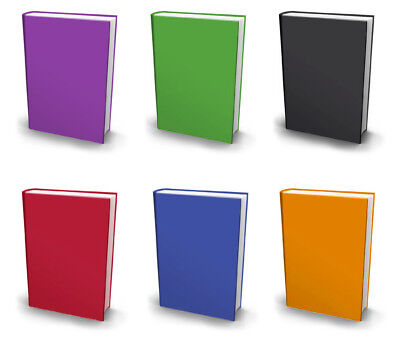 SET OF 6 BOOK COVERS Stretchable Fabric Jumbo Size Book Cover, Assorted COLORS