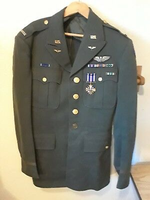 1942 Ww Ii Us Army Corps Officers Uniform Hap Arnold Wings Usaf Air Force Coat
