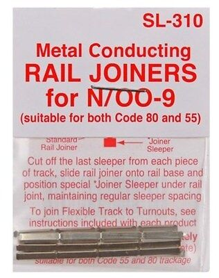 PECO SL-310a - 24 x Track Joiners for N Gauge Code 80 & 55 track 2nd Class Post