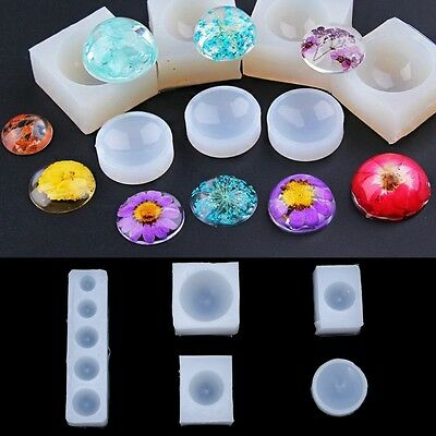 [PF] Pendant Production Silicone Epoxy Mold Jewelry Diy Hemisphere Resin