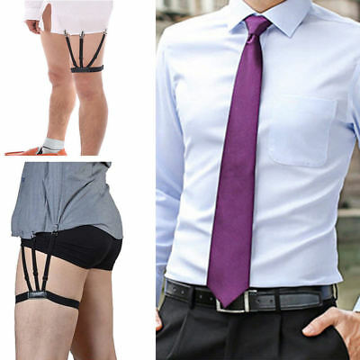 Thigh Shirt Stays Garters Adjustable Anti-Wrinkle Clip Elastic Tuck Suspenders