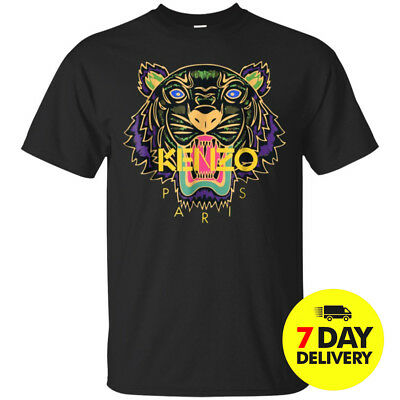 1Kenzo T-Shirt For Men And Women Black Cotton All Size