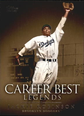 2009 Topps Legends of the Game Career Best Baseball Card #JR Jackie Robinson