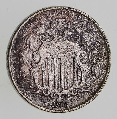First US Nickel - 1868 - Shield Nickel - US Type Coin - Over 100 Years Old! *149
