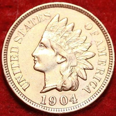 Uncirculated Red 1904 Philadelphia Mint  Indian Head Cent