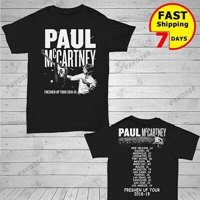 Paul Mccartney Freshen Up Concert Tour 2019 T-Shirt Size Black t Shirt Gildan