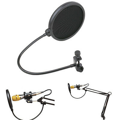 New Double Layer Studio Microphone Wind Screen Mask For Speaking Recording Studi