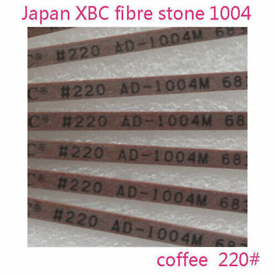 5pcs Polishing Ceramic Fibre Stone Made In Japan 1004 Coffee 220# For Lappin New