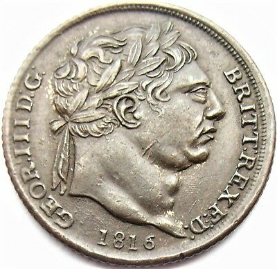 George III 1816 Contempory Non Regal Sixpence
