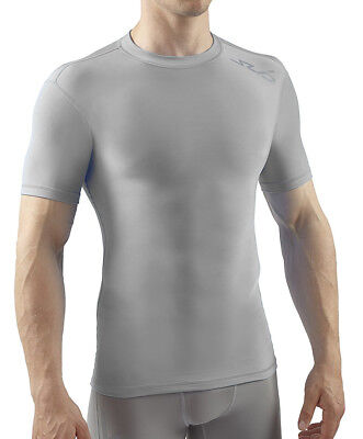 Sub Sports Cold Thermal Mens Short Sleeve Top Compression Baselayer - Grey