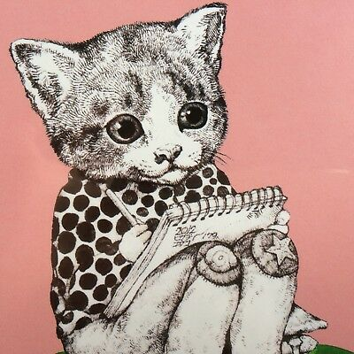 [No.80] A Kawaii Art Postcard by Yuko Higuchi for Every Cat Lover! F/S JAPAN