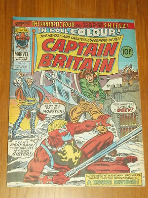 Captain Britain #10 15Th December 1976 Marvel British Weekly