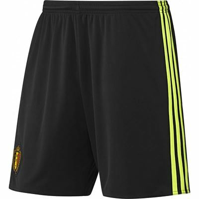 adidas KIDS BELGIUM HOME FOOTBALL SHORTS BLACK SOCCER BOYS GIRLS KBVB 7 - 16