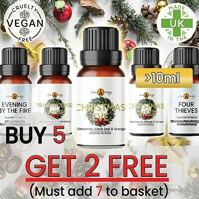 Essential Oils - Christmas & Winter Pure Essential Oil Diffuser Fragrances 10ml