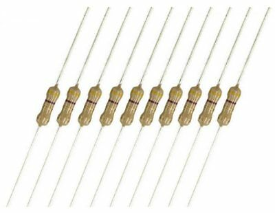 10 Pcs 1/4W Carbon Film Resistor ±5% Tolerance Axial 0.25w Various Values