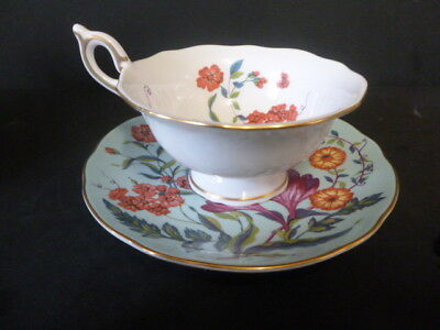 Wedgwood Turquoise Crocus Tea Cup And Saucer