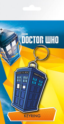 Gummi Schlüsselanhänger DOCTOR WHO - Tardis - Illustration Rubber Keyring KR0224