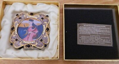 Work of Art Metal Colored Drawing Tang Dynasty Style in Nice Box China