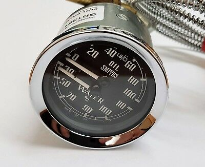 MGB/ MGB GT/ Midget Smiths Dual Gauge (Water/ Oil) Temperature Gauge (Celsius)