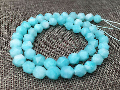 """Natural Faceted 8mm Amazon Polygons Diamond Shaped Cut Gems Loose Beads 15"""" AAA"""