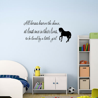 Love Horse Girls Western Vinyl Wall Decal Quote Home Sticker Inspirational Decor
