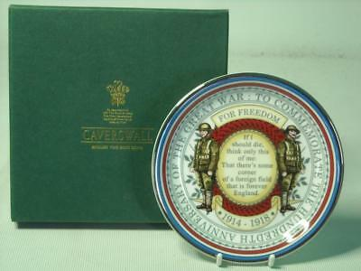 "Caverswall 4"" Round Pin Dish 100th ANNIVERSARY OF THE GREAT WAR Commemorative"