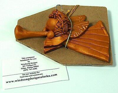Angel Ornament Windsong Designs Sitka Alaska Handcrafted Clay Mint