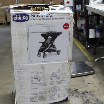 Chicco Bravo For 2 Double Stroller In Zinc - 4416