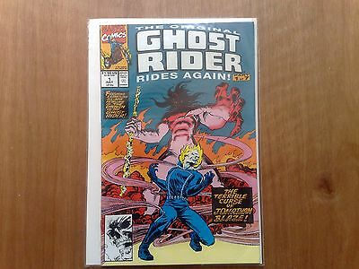 GHOST RIDER RIDES AGAIN VOL. 1 #1 MARVEL COMICS JULY 1991 1st PRINT VERY FINE