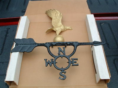 Old Century Forge Brand Nos Gold Eagle Weather Vane Wall Mount Made In Usa