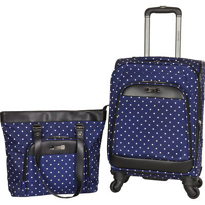 "Kenneth Cole Reaction Dot Matrix Polka Dot 20"" Softside Carry-On NEW"
