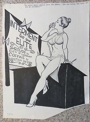 Lynn Harrison Original Sex To Sexty Cartoon  Art