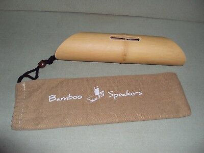 Handcrafted Portable Bamboo Speaker Audio Dock for various phones or iPods CASE