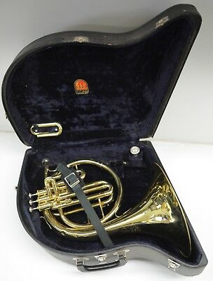 CG CONN 14E MELLOPHONE, KEY OF F AND Eb, ORIGINAL CONN MOUTHPIECE AND CASE