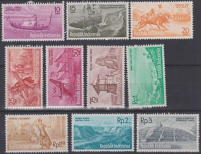 274) Indonesia 1961 -  Tourism   Mint Never Hinged Set - Perfect
