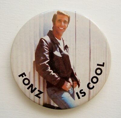 Vintage Fonz Is Cool Henry Winkler The Fonzie Happy Days Tv Pin Badge Button